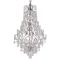 Silver Cascade 5 Light 19 inch Polished Chrome Chandelier Ceiling Light