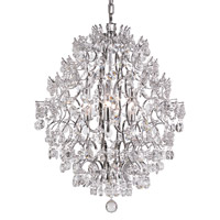 Silver 6 Light 21 inch Polished Chrome Chandelier Ceiling Light