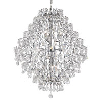 Silver Cascade 9 Light 27 inch Polished Chrome Chandelier Ceiling Light