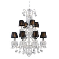 Trans Globe Crystal Traditions 12 Light Chandelier in Polished Chrome HK-12-PC