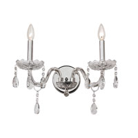 Signature 2 Light 13 inch Polished Chrome Wall Sconce Wall Light
