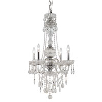 Signature 4 Light 21 inch Polished Chrome Chandelier Ceiling Light