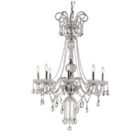 Signature 8 Light 30 inch Polished Chrome Chandelier Ceiling Light