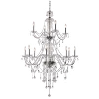 Crystal Fountain 12 Light 37 inch Polished Chrome Chandelier Ceiling Light