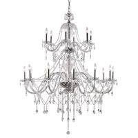 Crystal Fountain 18 Light 46 inch Polished Chrome Chandelier Ceiling Light