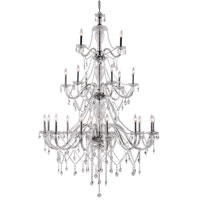 Crystal Fountain 21 Light 46 inch Polished Chrome Chandelier Ceiling Light