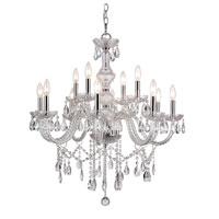 Trans Globe Signature 12 Light Chandelier in Polished Chrome HU-12-PC