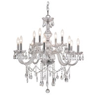 Trans Globe Lighting Versailles 12 Light Chandelier in Silver HU-12-PC