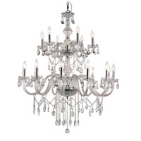 Trans Globe Lighting Versailles 18 Light Chandelier in Silver HU-18-PC