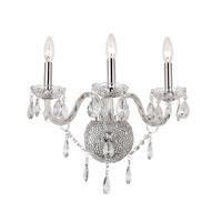 Trans Globe Lighting Versailles 3 Light Wall Sconce in Silver HU-3-PC