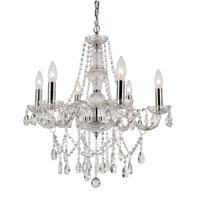 Trans Globe Lighting Versailles 6 Light Chandelier in Silver HU-6-PC