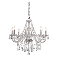 Signature 8 Light 28 inch Polished Chrome Chandelier Ceiling Light