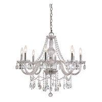 Trans Globe Lighting Versailles 8 Light Chandelier in Silver HU-8-PC