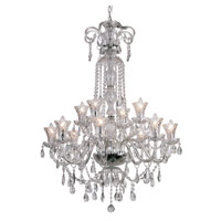 Trans Globe Lighting Traditional Crystal 12 Light Chandelier in Polished Chrome HX-12 photo thumbnail