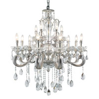 Trans Globe Helios 12 Light Chandelier in Silver JB-12-SL