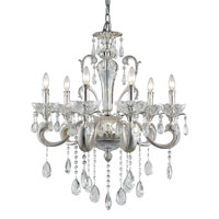 Trans Globe Helios 6 Light Chandelier in Silver JB-6-SL