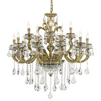 Trans Globe Signature 15 Light Chandelier in Antique Brass JD-15-AB