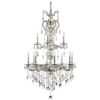 Silver Fountain 12 Light 34 inch Antique Nickel Chandelier Ceiling Light