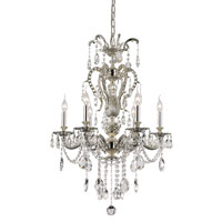 Silver Fountain 6 Light 25 inch Antique Nickel Chandelier Ceiling Light