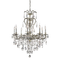 Silver Fountain 8 Light 30 inch Antique Nickel Chandelier Ceiling Light