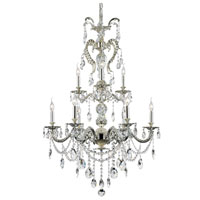 Silver Fountain 9 Light 24 inch Antique Nickel Chandelier Ceiling Light