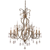Juglans 8 Light 30 inch Antique Gold Chandelier Ceiling Light