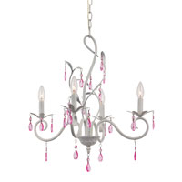 Trans Globe Climbing Vine 5 Light Chandelier in White KDL-855