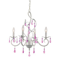 Trans Globe Climbing Vine 5 Light Chandelier in White KDL-857