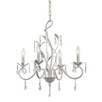 Climbing Vine 5 Light 17 inch White Chandelier Ceiling Light