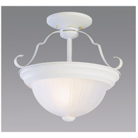 Breakwater LED 11 inch Antique White Semi-Flush Mount Ceiling Light