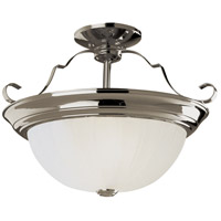Breakwater LED 13 inch Brushed Nickel Semi-Flush Mount Ceiling Light
