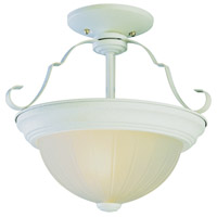 Breakwater LED 15 inch Antique White Semi-Flush Mount Ceiling Light