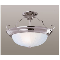 Breakwater LED 15 inch Brushed Nickel Semi-Flush Mount Ceiling Light
