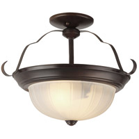 Breakwater LED 15 inch Rubbed Oil Bronze Semi-Flush Mount Ceiling Light