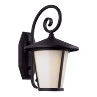 Trans Globe Led Classical LED Outdoor Wall Light in Black LED-40350-BK