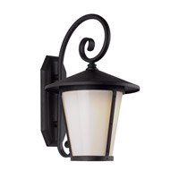 Trans Globe Signature 1 Light Outdoor Wall Light in Black LED-40351-BK