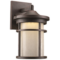 Avalon LED 11 inch Rust Outdoor Wall Lantern