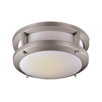 Signature 10 inch Silver Flush Mount Ceiling Light