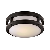 Signature 14 inch Black Flush Mount Ceiling Light