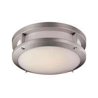 Signature 14 inch Silver Flush Mount Ceiling Light