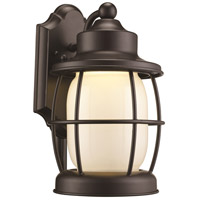 Newport LED 12 inch Rubbed Oil Bronze Outdoor Wall Lantern