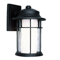 Opal Chimney LED 12 inch Black Outdoor Wall Light