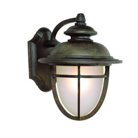 Trans Globe Lighting Energy Efficient Outdoor 6 Light Wall Lantern in Dark Rust LED-5850-DR