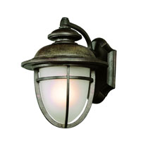 Miners LED 13 inch Dark Rust Outdoor Wall Light