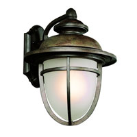 Miners LED 16 inch Dark Rust Outdoor Wall Light