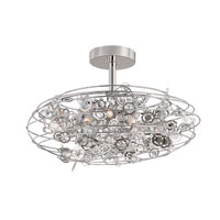 Trans Globe Lighting Contemporary 8 Light Semi-Flush Mount in Polished Chrome MDN-1011 photo thumbnail