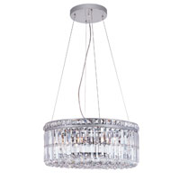 Trans Globe Lighting Contemporary Crystal 6 Light Pendant in Polished Chrome MDN-1050