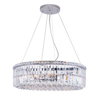 Trans Globe Lighting Contemporary Crystal 6 Light Pendant in Polished Chrome MDN-1051