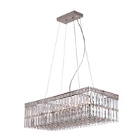 Trans Globe Lighting Contemporary Crystal 10 Light Pendant in Polished Chrome MDN-1052