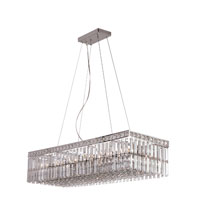 Trans Globe Lighting Contemporary Crystal 12 Light Pendant in Polished Chrome MDN-1053